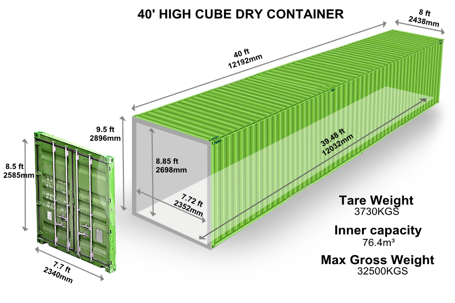 40' HIGH CUBE DRY CONTAINER
