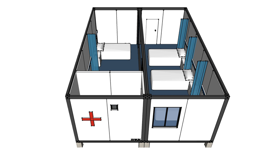 Flat Pack Container House for Clinics Hospital