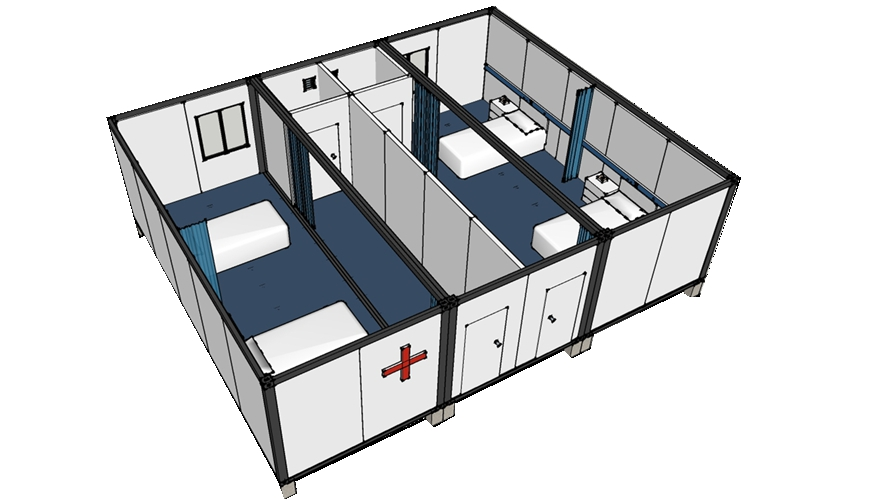 HYSUN Mobile Container House for Hospital and Clinic