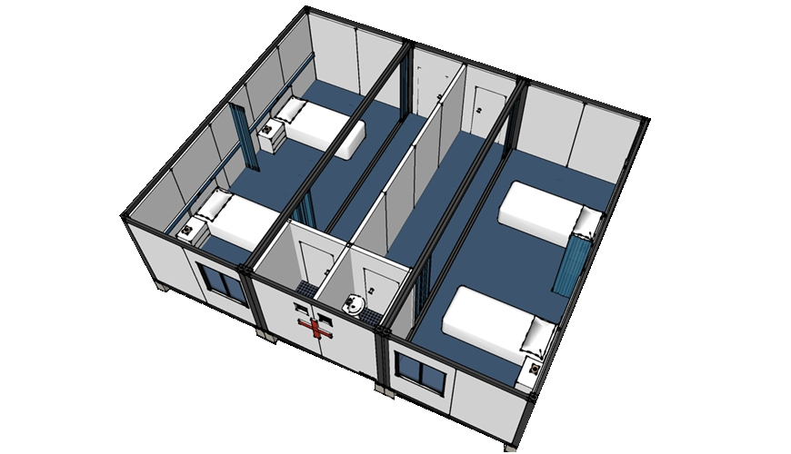 HY-AD HYSUN Prefab Mobile Flatpack Container House for Hospital and Clinic