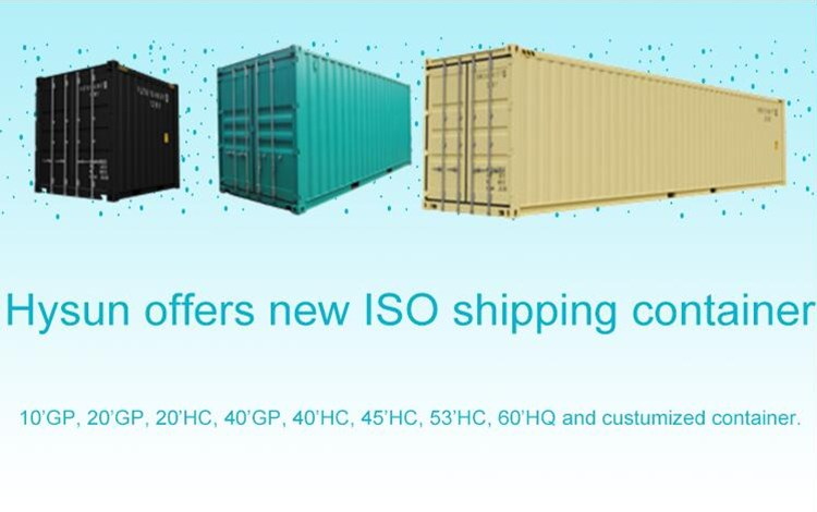 Hysun offer new ISO shipping container