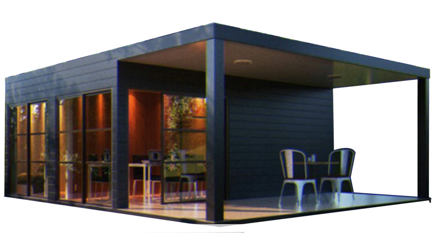 Hysun Prefab Luxury Flat Pack Container House for Coffee Shop or Restaurant