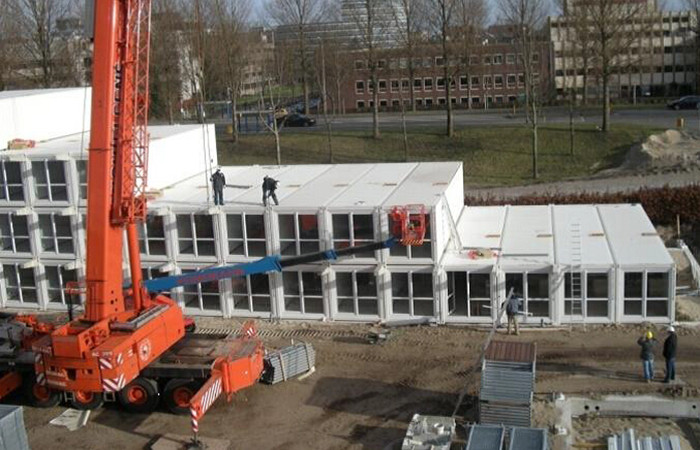 Poland: Prefabricated Flat Pack Student Dormitory Container