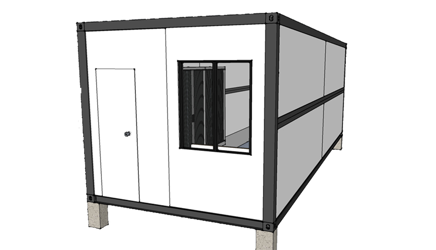 F010 HYSUN Modular Ready Made Folding Modular Container House Prefab Foldable Container Home with Bathroom