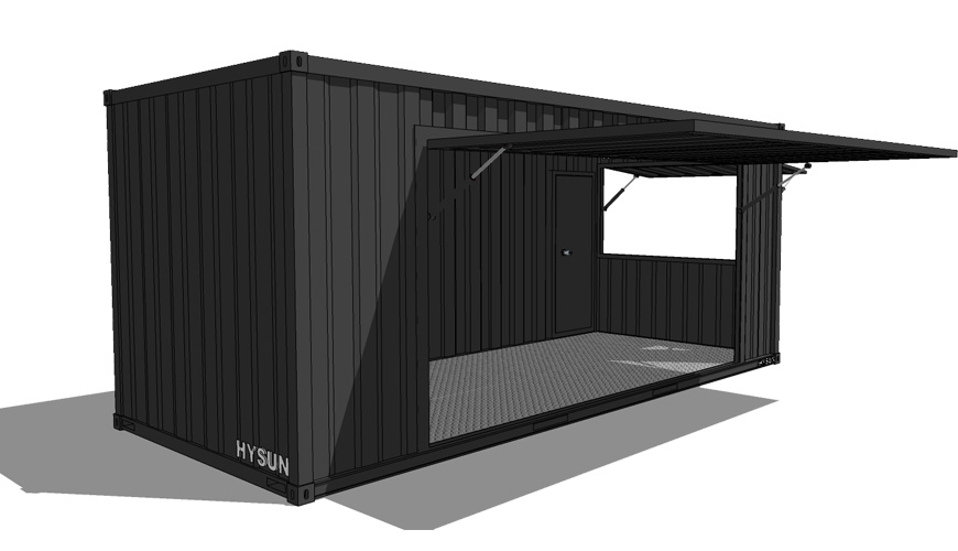 Q-017 HYSUN Cafe Container House 20ft Shipping Container Bar Portable Pop-up Coffee Shop