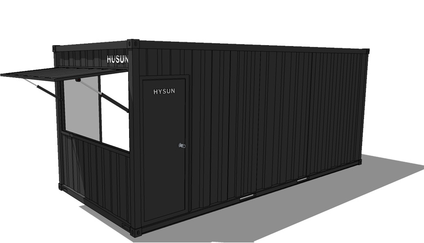 Q017 HYSUN Popular Container Coffee Shop Portable Mobile Pop-up Shipping Container Cafe Bar New Design Shop