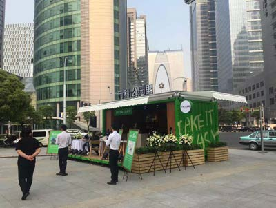 Pop up container bar