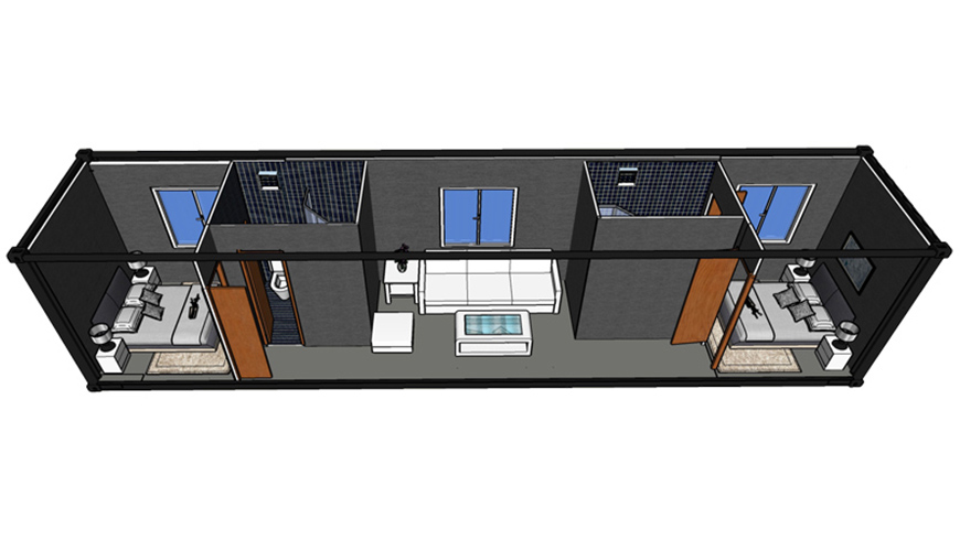 HY-M303 Hysun Customized Prefab House Container Coffee Shop Shipping Container Dimensions House Shipping Container Guest House