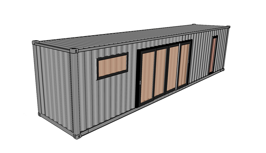 HY-M305 Hysun Modified Eco-Friendly shipping container home USA solar kits with High-Quality container homes for sale