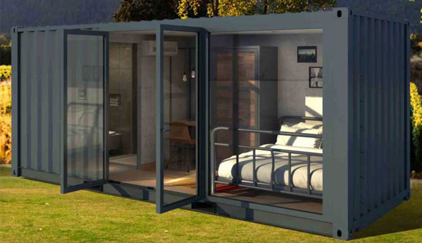 HY-M803 Hysun 2021 Modified Shipping Container for Accommodation Luxury container house resort on beach Habitat flex home