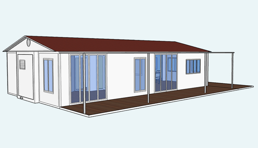 HY-E018 HYSUN 40 foot expandable container house 40′ expandable homes factory direct sales removable container 40ft expandable villa