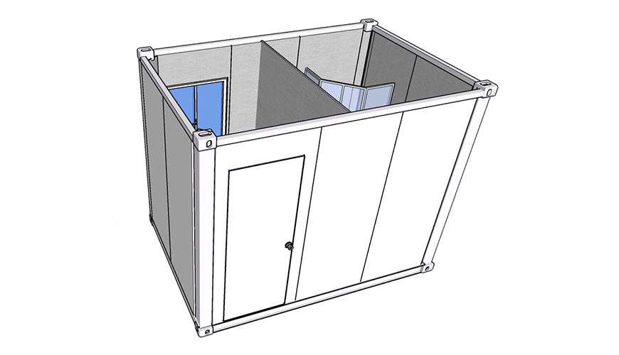 HY-A232 HYSUN prefabricated modular flat pack container bathroom 20ft flat pack building container Home