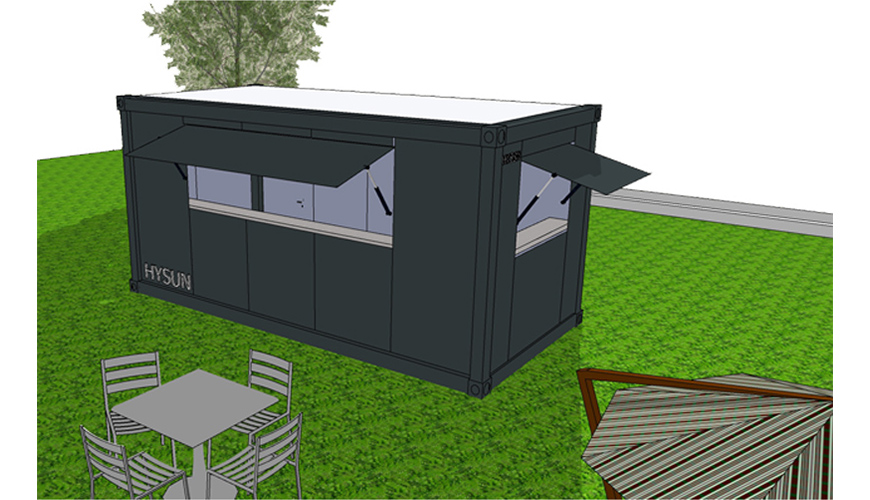 HY-A233 Hysun customized design color prefab mobile flat pack container house shop economy pre-made modular 20ft container bar