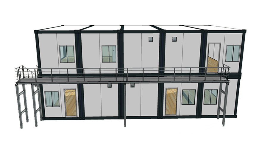 HY-A241 Hysun new design prefab flat pack office or living room modular container house multi-layer portable movable flat pack container
