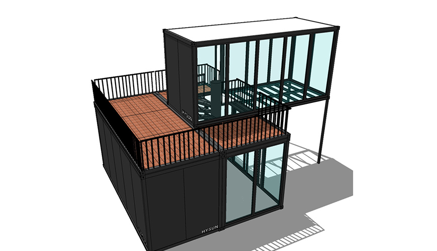 HY-A246 Hysun prefabricated modular customized modern prefab luxury container house flat pack home or office