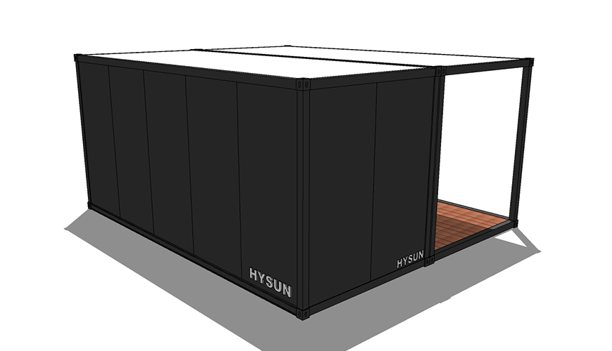 HY-A249 Hysun mobile cheap prefabricated flat-pack container house custom-made flat pack assembled container flat pack container storage