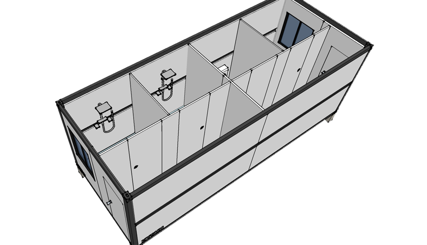 HY-F011 HYSUN movable folding container house well furnished portable folding container houses foldable container home for hotels
