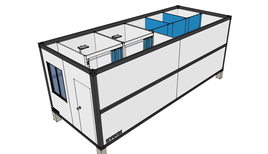 HY-F012 HYSUN prefab house 20/40 ft container prefabricated modern folding foldable prefab house 20 footer container modular house