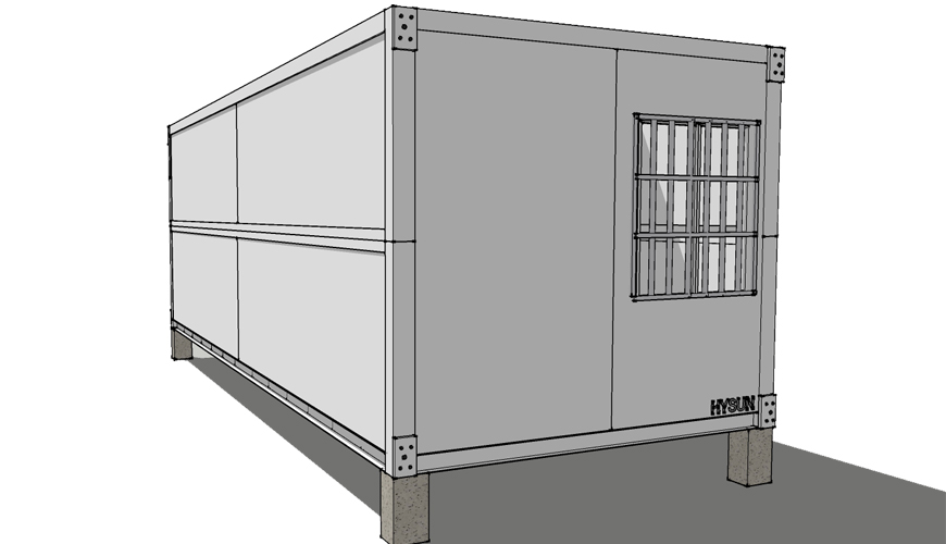 HY-F013 HYSUN movable folding container house for sale collapsible container hotel prefab folding container home office