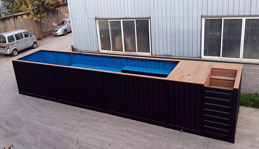 HY-G Hysun Portable New Design Prefab Mobile Modified Shipping Container Swimming Pool with Steel Structure