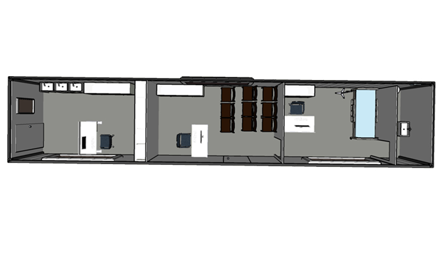 HY-M307 Hysun portable 40FT Shipping Container Modified steel living movable container small house shipping container office