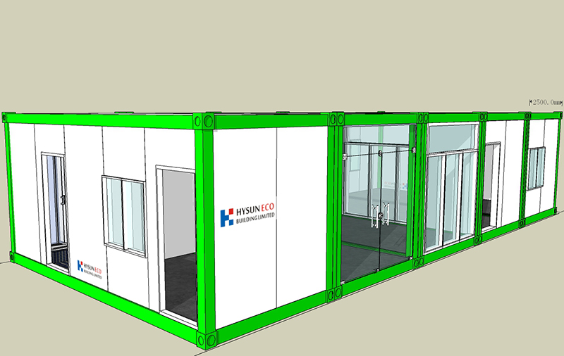 Sales information: Hysun sold 8 fast assemble container houses to Indonesia